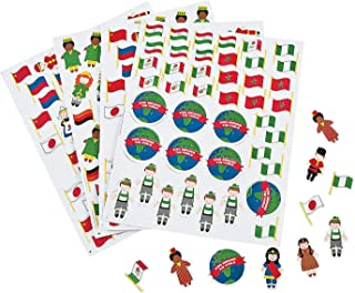 Fun Express Kids Around The World Adhesive Foam Shps - 500 Pieces - Educational and Learning Activities for Kids