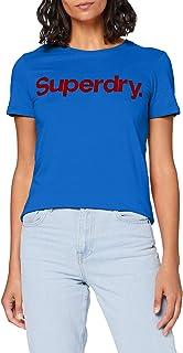 Superdry Women's Cl Flock Tee T-Shirt
