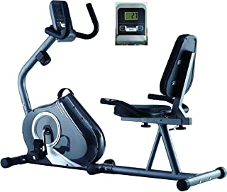 Endurance Recumbent Exercise Bike Elite Fit with 8kg Magnetic Flywheel, Wide Comfort Plus Seat and Heart Rate Monitor.