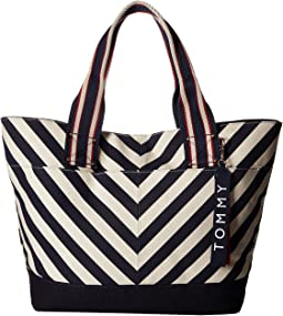 Classic Tommy Chevron Canvas Tote