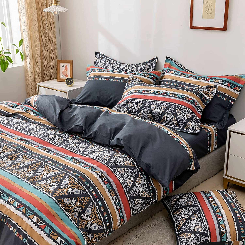 FADFAY Black Bedding Set King Jacksonville Mall Product Size Premium 100% Cotton Bo Exotic