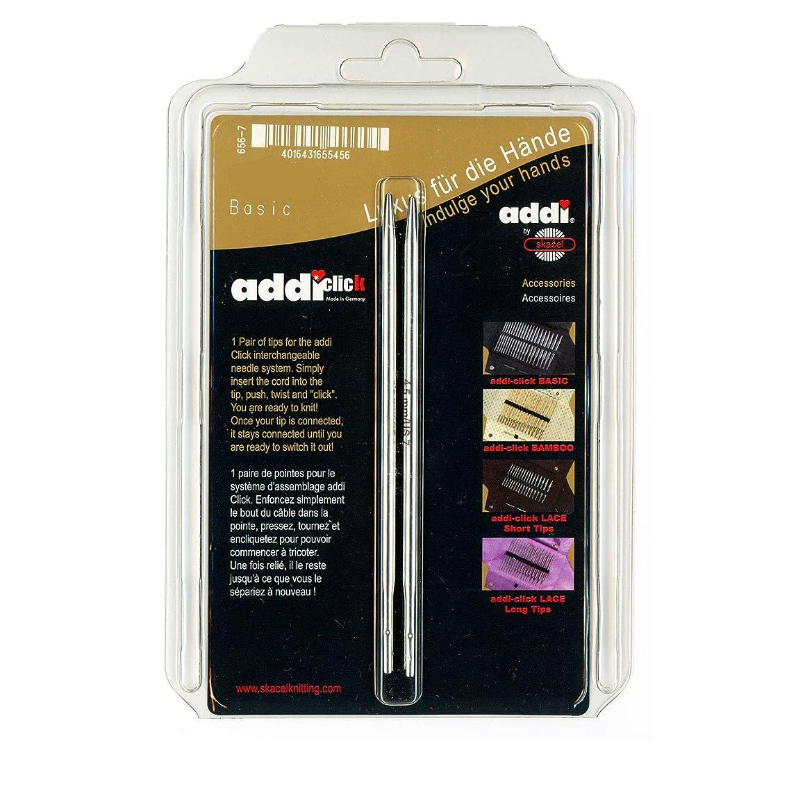 addi Click Interchangeable Knitting Needle Tips Turbo Basic Set 5 inch (13cm) Size US 10.5 (6.5mm)