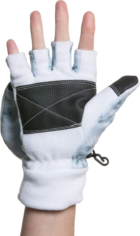 Aqua Design Convertible Flap Mittens for Women Cold Weather Winter Fleece Gloves