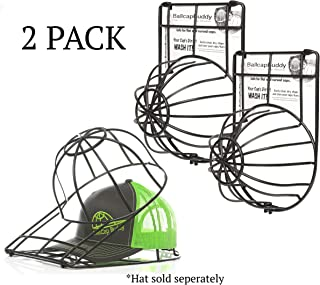 BallcapBuddy Cap Washer Hat Washer The Original Patented Baseball Cap Cleaner Frame/Cage endorsed by Shark Tank Made in USA- 2Pack Black