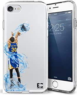 Epic Cases iPhone6 Plus iPhone 7/iPhone 8 Plus Case Ultra Slim Crystal Clear Basketball Series Soft Transparent TPU Case Cover Apple - Curry Warriors (iPhone 6 Plus) (iPhone 7 Plus) (iPhone 8 Plus)