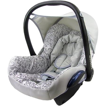 Bambiniwelt Ersatzbezug Für Maxi Cosi Cabrio Fix 6 Tlg Bezug Für Babyschale Sommerbezug Silber Mosaik Xx Baby