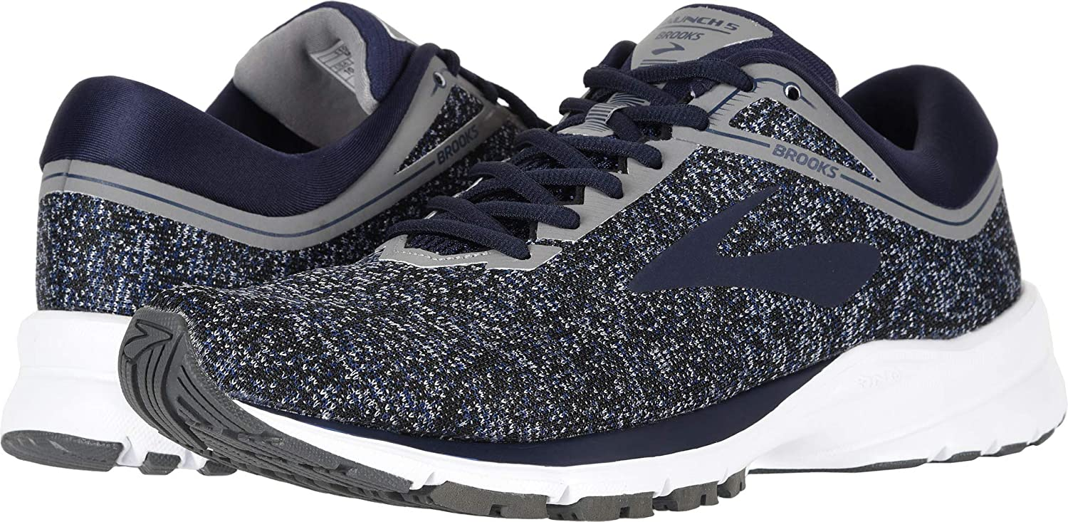 Brooks Men's Launch 5 Navy Grey Ebony 10 D US