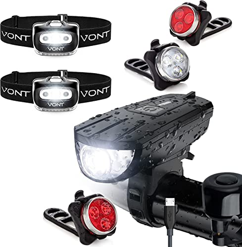wholesale Vont online sale Ultimate sale Night Riding Pack - 2-Pack Spark Headlamps + Breeze Bike Light Set + Pyro Bike Light Set - Must-Have Bike Lighting Bundle for the Cycling Enthusiast - Complete, Compact, Topnotch Quality online sale