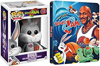 Jam Pack DVD Space Jam Blu Ray Steelbook Looney Tunes Space Jam Bugs Bunny Funko Pop! Movies Vinyl Figure #413 20th Anniversary