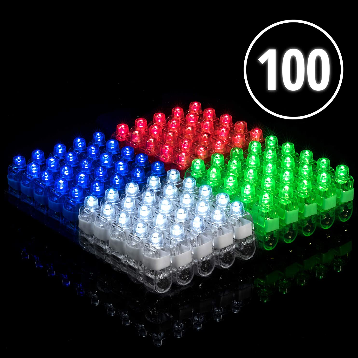 Light Up Rings LED Finger Lights 100pk – Flashing Glow Rings Bulk Party Favors for Kids and Adults, Glow in The Dark Party Supplies Rave Accessories nhlgiilxcgm80