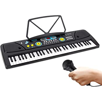Kids Smart Piano 61-Key Portable Electric Digital Key Board Piano Musical Instruments Children Toy with Microphone for Boys Girls Beginners
