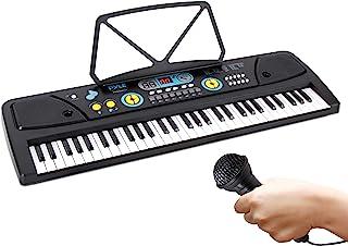 Digital Piano Kids Keyboard - Portable 61 Key Piano Keyboard, Learning Keyboard for Beginners w/Drum Pad, Recording, Micro...