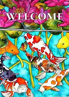 Toland Home Garden 1112475 Koi Pond 12.5 x 18 Inch Decorative, Garden Flag (12.5