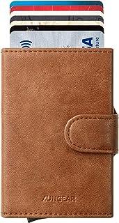 LUNGEAR Carteras   tarjeteros para Tarjetas de credito, Bloqueo RFID Automático Billetera pequeñas, para Hombres y Mujere...