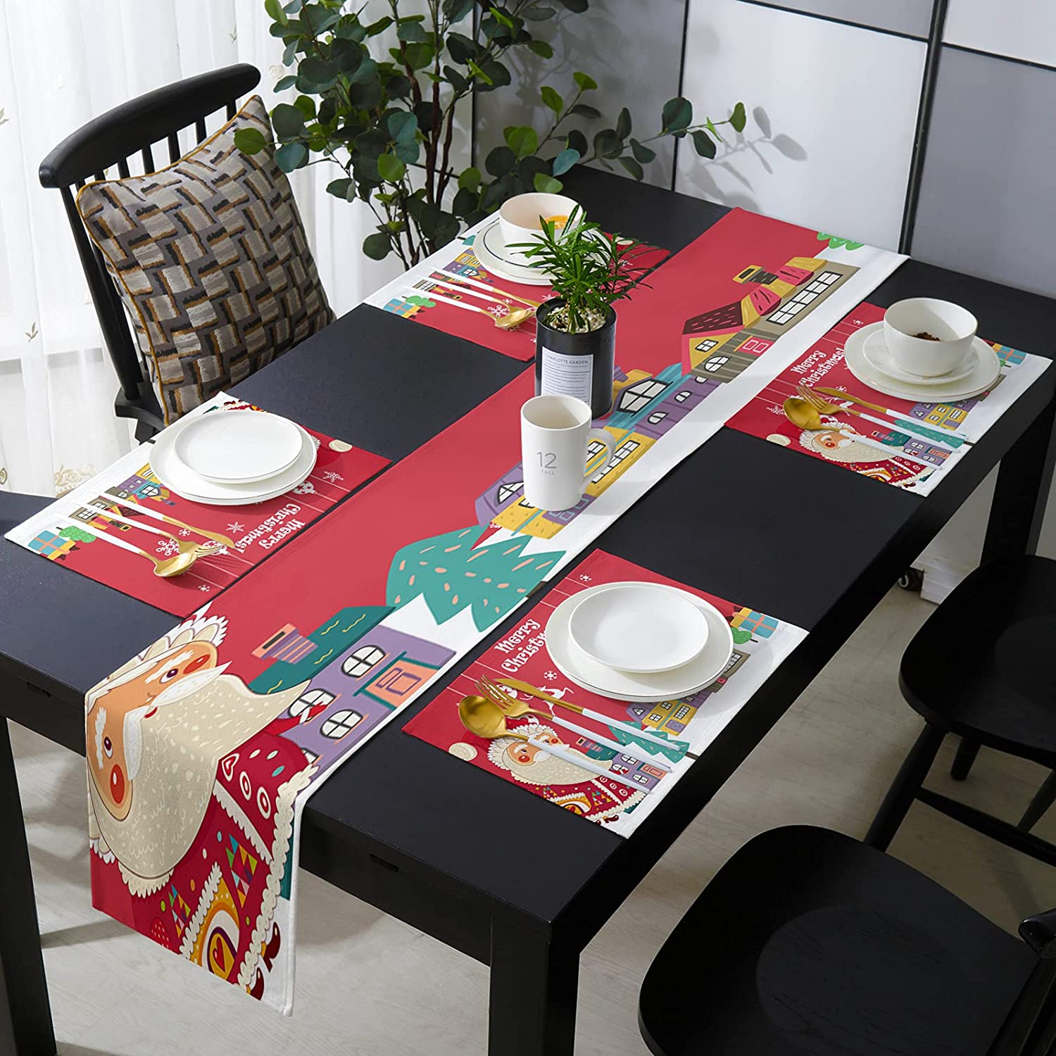 Placemats Set of 6 Award-winning store with Table Runner Kitchen L Dining Recommendation for