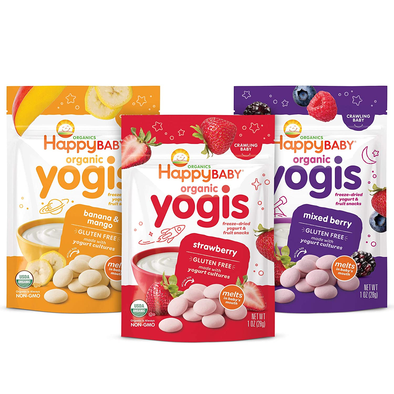 Happy Baby Organics Limited price sale Yogis Freeze-Dried Snacks Yogurt Max 77% OFF Va Fruit