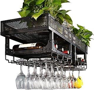 Organisation de rangement de cuisine Casiers à vin Support mural Métal Vintage Double couche Porte-bouteille de vin sur pi...
