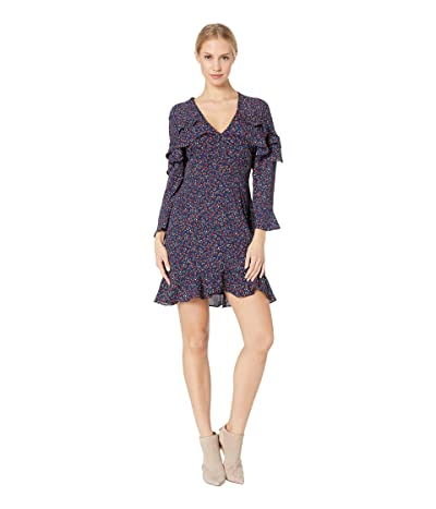 BB Dakota Touch of Romance Floral Printed Dress (Dark Blue) Women