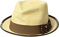 Matte Toyo Fedora with Feather Bow