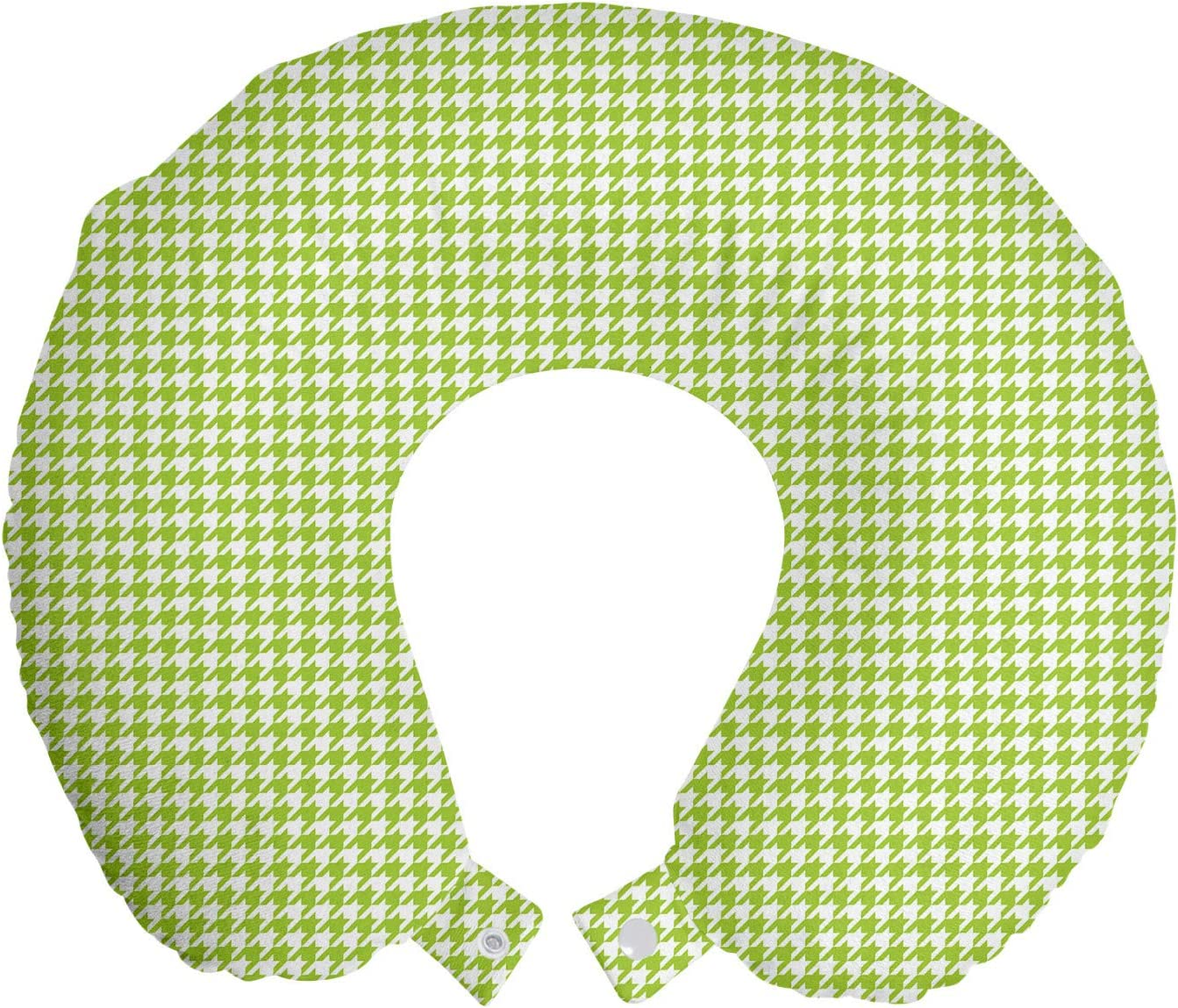 Ambesonne Houndstooth Travel Pillow Rest outlet Neck Continuous sale Little