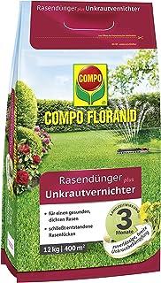 Compo FLORANID Rasendünger plus Unkrautvernichter, 3 Monate Langzeitwirkung,..