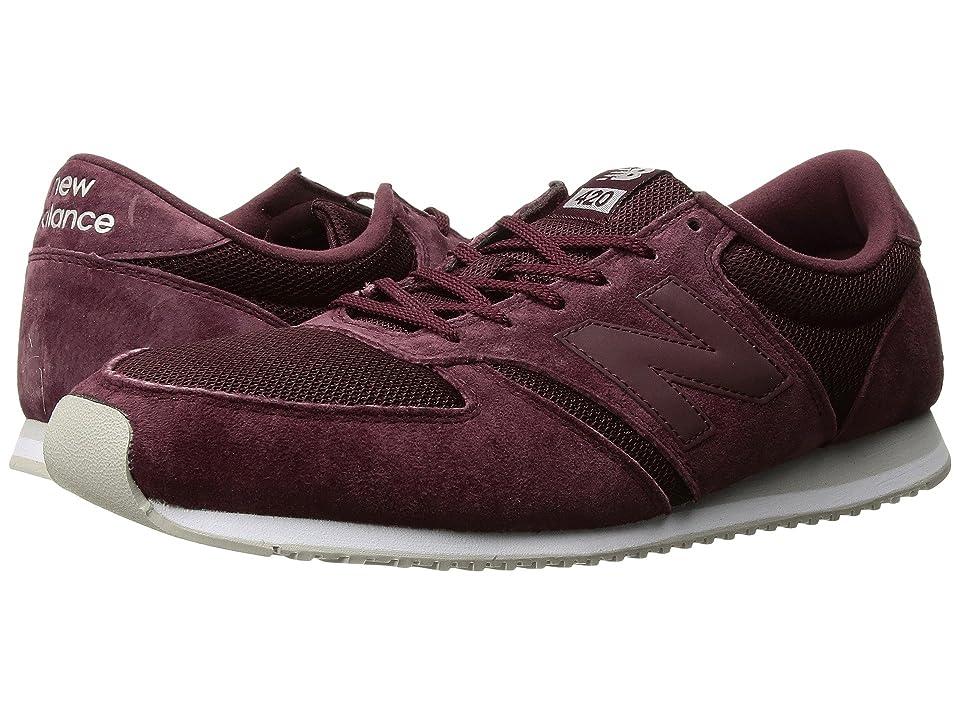 New Balance Classics U420v1 (Burgundy/Burgundy) Running Shoes