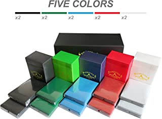 Card Deck Boxes Set of 5 + 500 Sleeves + Packaging Designed for Storage (Black, White, Blue, Green, Red) for Magic The Gathering (MTG) Pokemon yugioh - May be Suitable for Other Trading Card Games