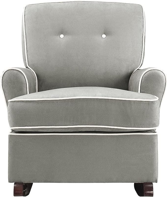 Baby Relax Tinsley Nursery Rocker Chair Gray
