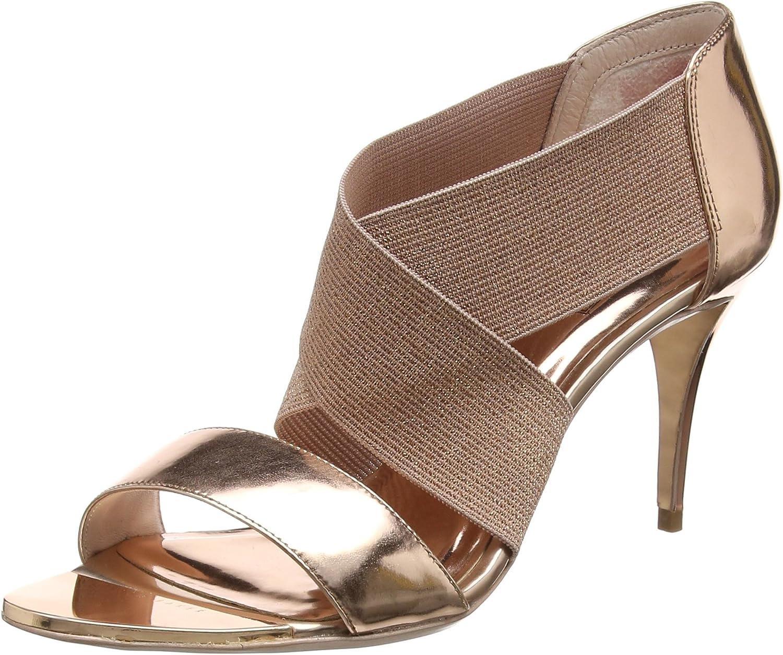 Ted Baker Womens pink gold Leniya Leather Court shoes-UK 8