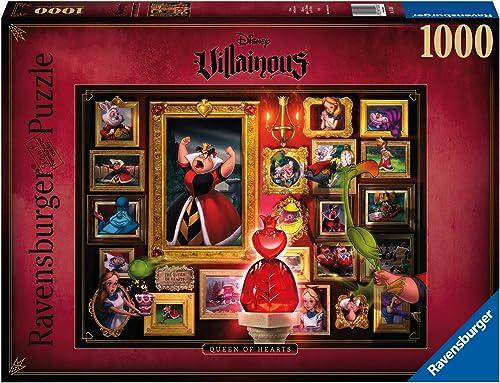 Ravensburger - Puzzle Adulte - Puzzle 1000 p - La Reine de cœur (Collection Disney Villainous) - Adultes et enfants d...