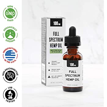 BarkBox 100mg, 1 Ounce Natural and Organically Grown Hemp Oil for Dogs and Pets - for Anxiety, Hip and Joint, or General Pain Relief - 3rd Party Tested, Grown and Extracted in The USA