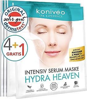 Hyaluron Tuchmaske – Hochdosierte Gesichtsmaske - Feuchtigkeit Gesicht Maske Vliesmaske von konivéo 4  1 Stück