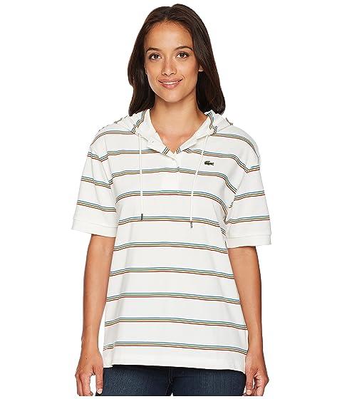 Polo Pique Sleeve Short Rainbow Lacoste Stripes EvXwqv7