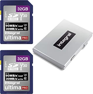 1 Twin Pack Memory Card Sakar Nerf/  Camcorder Memory Card 2X 16GB Standard Secure Digital SDHC