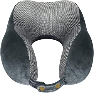 TUXWANG Travel Pillow Memory Foam Head and Neck Support Pillow Airplane Pillow for Plane Train Car Bus Office Home
