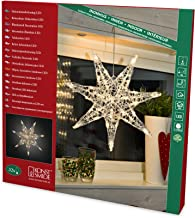 """Konstsmide """"7 Pointed Star"""" Indoor Christmas Light Decoration / 32 Warm White LEDs / Transparent Cable"""