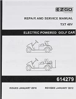 EZGO 614279 2010 Repair and Service Manual for 48-Volt TXT Vehicles
