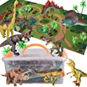 Alagoo Realistic Dinosaur Toys with Activity Play Mat & Trees