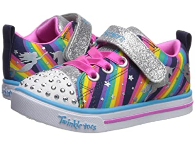 SKECHERS KIDS Twinkle Toes Sparkle Lite Magical Rainbows 20275N (Toddler) (Navy/Multi) Girl