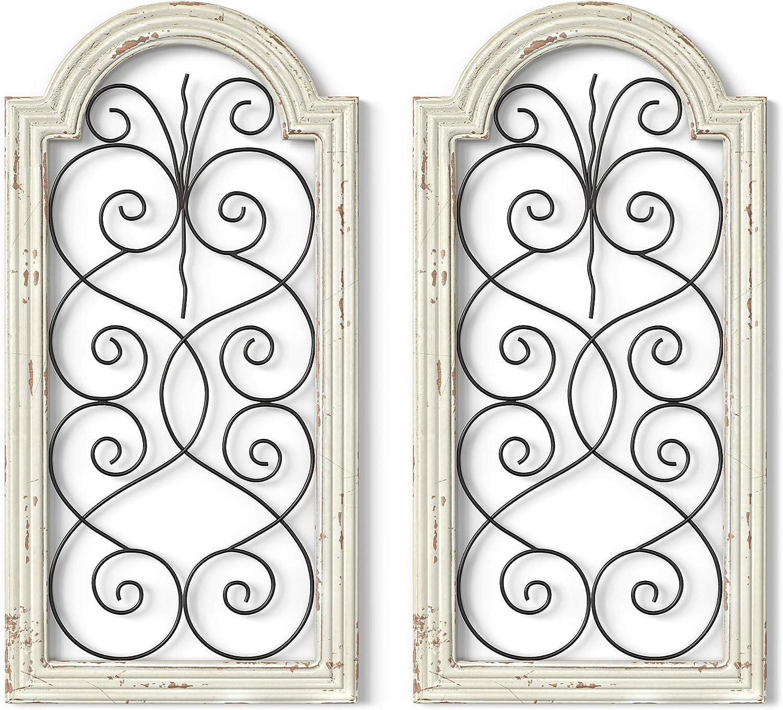 Barnyard Designs Classic Rustic Wood and Decor Wall Over item handling Decorat Metal Large