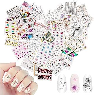 48 hojas de arte de uñas mixtas Mwoot Etiqueta engomada de la transferencia de agua del arte del clavo calcomanías de man...