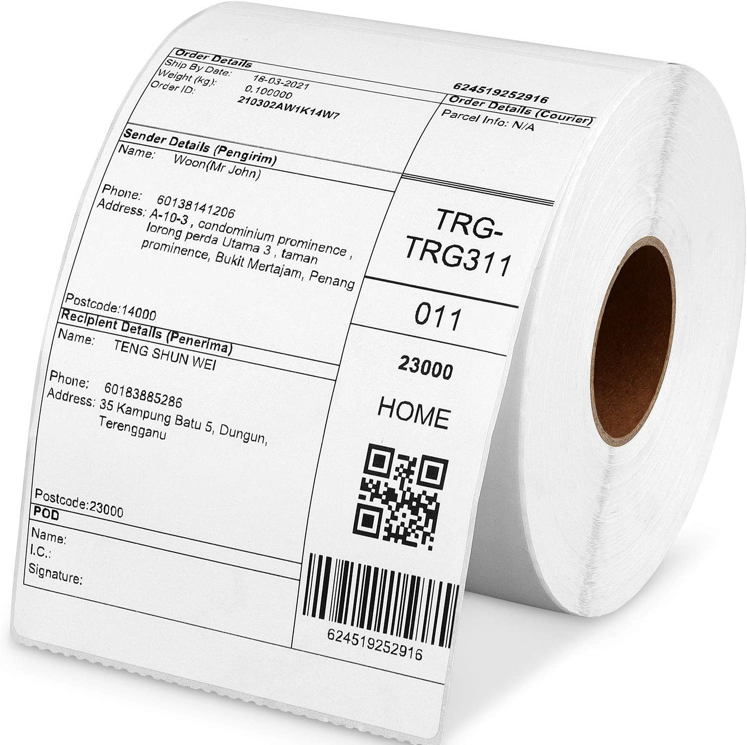 Free Shipping New Poxoke 4x6 Direct Thermal Ranking TOP12 Stickers for Rollo Labels 500