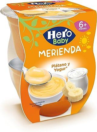 Hero Baby Merienda Merienda Plátano y Yogur - Paquete de 2 x 130 gr - Total