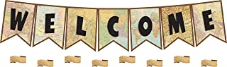 Teacher Created Resources Travel the Map Pennants Welcome Bulletin Board