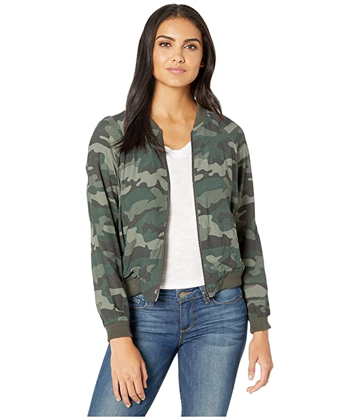 BB Dakota Cant See Me Bomber Jacket (Army Green) Womens Clothing