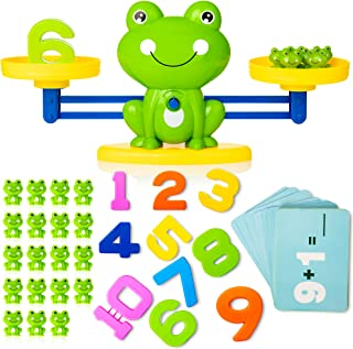 Cool Math Counting Balance Toy, Frog Kindergarten Educational Number Counting Toy, Fun Preschool Todddlers STEM Learning T...