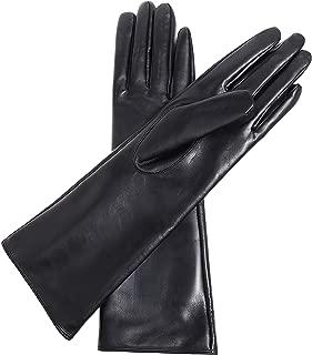 Women's Leather Gloves Long Sleeves Full Touchscreen Winter Warm Lined Elegant Type