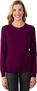 Women's 100% Pure Cashmere Long Sleeve Crew Neck Sweater