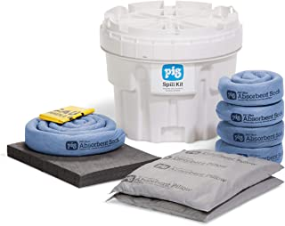 New Pig KIT211 33 Piece Spill Kit in 20 Gallon Overpack Salvage Drum, 12 Gallon Absorbency