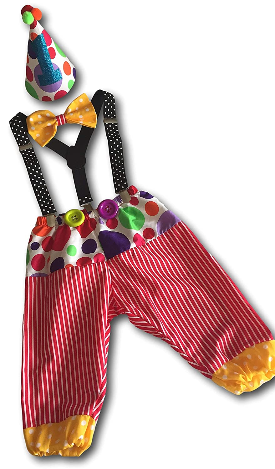 Clown 1st Birthday Cake Smash for Boys Baby Outfit Cheap super special price It is very popular